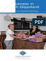 Business Assistance Brochure a Guide to Council Services