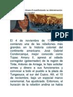Edicto de Túpac Amaru II Manifestando Su Determinación de Sacudir El Yugo Españo1