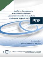 Individualismo Transgresor e Instituciones Publicas