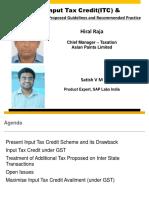 GST-Input Tax Credit