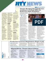 Actors Equity Newsletter