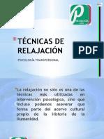 Técnicas de Relajación dentro del marco teórico de la psicología transpersonal