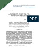 LA JUSTICIA CONSTITUCIONAL EN EL URUGUAY. COORDINACIÓN DE LOS PRINCIPIOS DE SEPARACIÓN DE PODERES Y SOMETIMIENTO DE TODA LA NORMATIVA A LA CONSTITUCIÓN