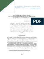 LO CONFUSO DEL CONTROL DIFUSO DE LA CONSTITUCIÓN. PROPUESTA DE INTERPRETACIÓN DEL ARTÍCULO 133 CONSTITUCIONAL