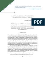 LA AUTONOMÍA DEL MUNICIPIO Y SU DEFENSA CONSTITUCIONAL EN MÉXICO Y ESPAÑA