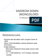 Sindrom Down (Mongoloid)