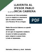 Calavera a Pablo Escorcia