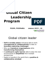 Global Citizen Leader Module 1Oct15