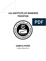 SBP-BSC-OG-I 6th Batch- Sample Paper