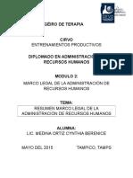 MARCO LEGAL DE LA ADMINISTRACIÓN DE RECURSOS HUMANOS