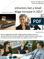 Federal Contractors Get a Small Minimum Wage Increase in 2017