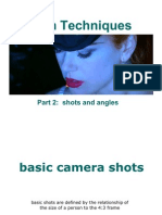 Presentation 1, Part 2 - Film Terms and Techniques, Shots and Angles