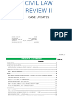 Civil Law Review II Case Updates