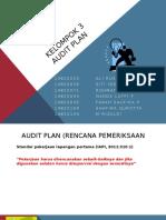 Audit Plan, Audit Procedure, Audit Teknik, Risiko Audit, dan Materialitas.