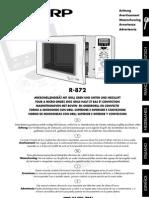 Sharp R-872 Microwelle Bedienungsanleitung