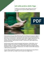 Gli Oli Essenziali Nella Pratica Dello Yoga
