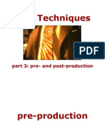 Presentation 1, Part 3 - Film Terms and Techniques, Pre- And Post-production