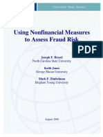 Non Financial Measures to Assess Fraud Risk