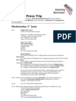Thailand Press Trip Itinerary