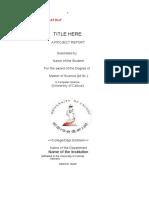 Project Report Format- MSc