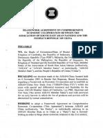 Framework Agreement Economic ASEAN-China 2002