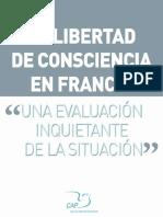 La libertad de consciencia en Francia – una Evaluación inquietante de la Situación