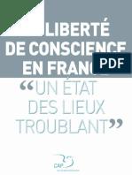 LIBERTE DE CONSCIENCE UN ETAT DES LIEUX TROUBLANT