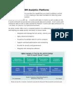 IBM Analytics Platform