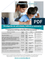 Divulgación de actividades, talleres y seminarios