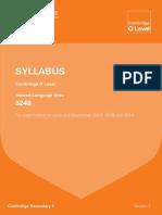 Urdu 3248 Syllabus updated