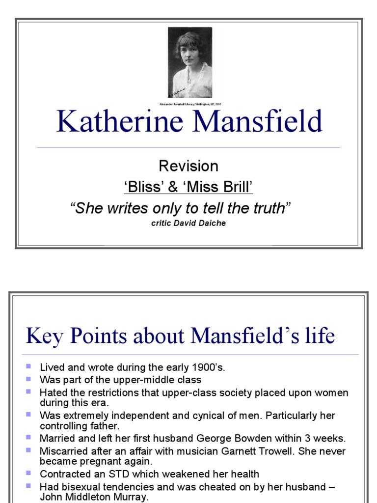 Katherine Mansfield Revision Katherine Mansfield