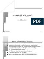Acquisition Valuation