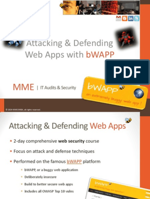Attacking & Defending Web Apps with: Bwapp