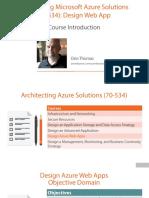1 Architecting Azure Solutions 70 534 Web Apps m1 Slides