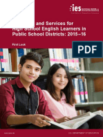 Programs and Services for High School English Learners in Public School Districts 2015-16