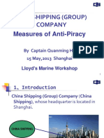 Session 2 Presentation 5 China Shipping Group Anti Piracy