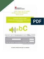 6º Prueba y Solucionario CDI Lengua Castellana 2015-2016
