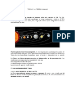 T1 El Planeta Tierra (Resumen)
