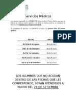 Cronograma de Chequeo Medico