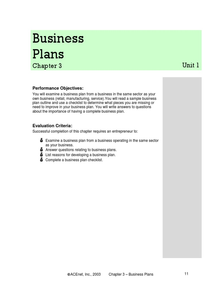 Chapter 3 Business Plans | Business Plan | Financial Statement