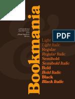 Bookmania Font UserGuide