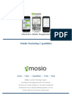 Mosio Marketing Capabilities | Brand and Agency Solutions for Mobile | SMS | Text Message Marketing and Advertising