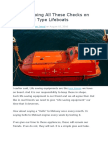 Are You Doing All These Checks on Your Davit Type Lifeboats