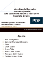 Risk Management for Rec Facilities