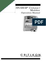 Critikon Dinamap Compact - User Manual