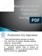 L-5 Recent Trends in Production and Operations Management