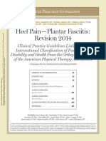 GUIDELINE 2014 Heel Pain-plantar Fasciitis - Clinical Practice Guidelines Linked to the International Classification of Functioning, Disability and Health From the Orthopaedic Section of the APTA