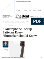 6 Microphone Pickup Patterns Every Filmmaker Should Know