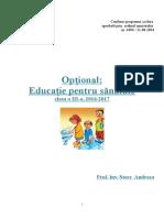 Educatie Pentru Sanatate Optional
