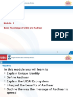 Basic Knowledge of Uidai and Aadhaar 16012014 Eng
